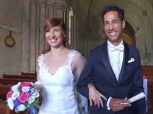 film de mariage par caméra sol et drone